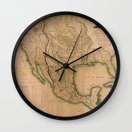Map of North America Missouri Territory (1826) Wall Clock