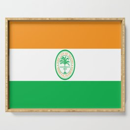 American cities-  Flag of Miami Serving Tray