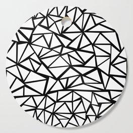 Mozaic Triangle White Cutting Board