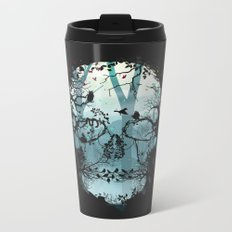 Dark Forest Skull Metal Travel Mug