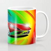 ferrari Mugs featuring Ferrari by JT Digital Art