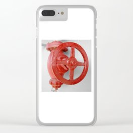 Red steam valve PHOTOGRAPHY Clear iPhone Case