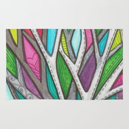 Stitched Tree of Glass Rug