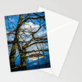 Real Life Ladders Game At Möhne Reservoir Lake Stationery Cards