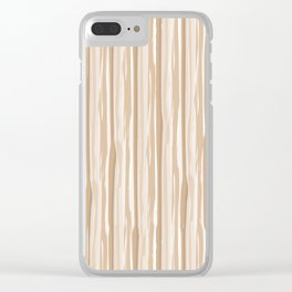 Ligonier Tan SW 7717 Vertical Grunge Line Pattern on White Clear iPhone Case