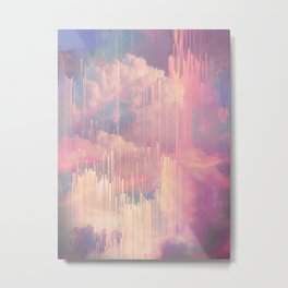 Candy Glitched Sky Metal Print