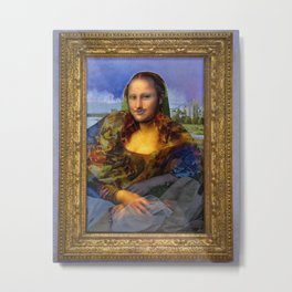 Mona (Kevin) Lisa : Satire + Contemporary Fine Art Metal Print