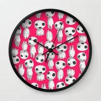 kodama Wall Clocks featuring Kodama  by pkarnold + The Cult Print Shop