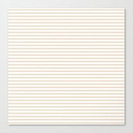Almond Baby Camel Mattress Ticking Narrow Striped Pattern - Fall Fashion 2018 Canvas Print