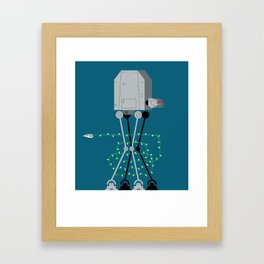 season's greetings from hoth Framed Art Print