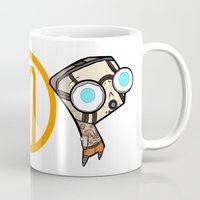 borderlands Mugs featuring Borderlands Bandit GIR by Diffro