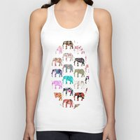 preppy Tank Tops featuring Floral Herd by Girly Trend