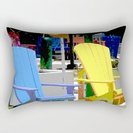 Brightly Colored Chairs Rectangular Pillow