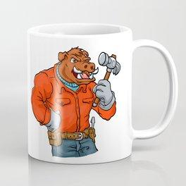 Boar cartoon mascot. Coffee Mug