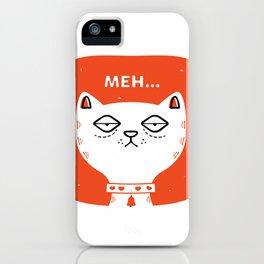 Meh Cat by Steve Mack iPhone Case