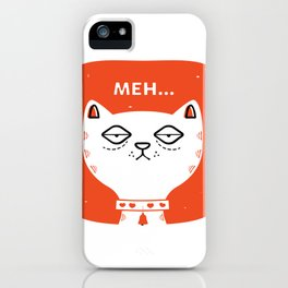 Meh Cat by Steve Mack iPhone Case
