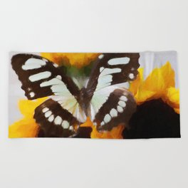 Summer Butterfly Beach Towel