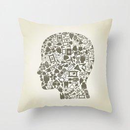 Head medicine Throw Pillow