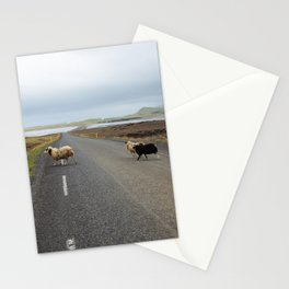 Sheep Crossing in Iceland Stationery Cards