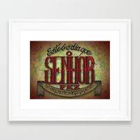 lettering Framed Art Prints featuring Lettering by MarcosDevelop