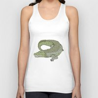 crocodile Tank Tops featuring Crocodile by Melrose Illustrations