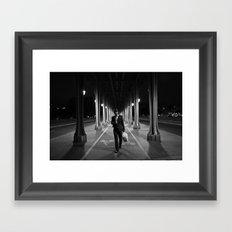 Paris bridge Framed Art Print