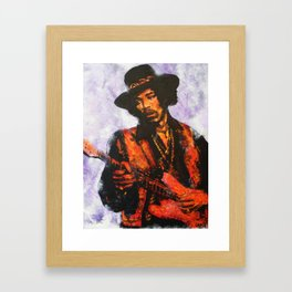 Let me stand next to your fire Framed Art Print