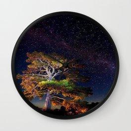 Stars and A Tree Wall Clock