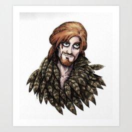 Loki in Freyja's Cloak Art Print