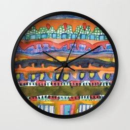 City On The Edge Of The Desert  Wall Clock