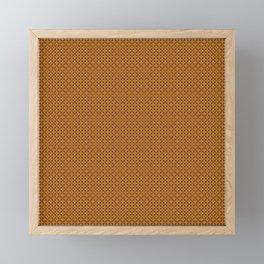 Gold and Burgundy Floral Print Framed Mini Art Print