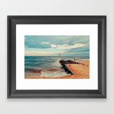 Jersey Fisherman Framed Art Print