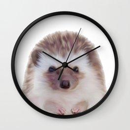 Hedgehog , Woodland Animal Wall Art, Nursery Decor, Peekaboo Animal Wall Clock
