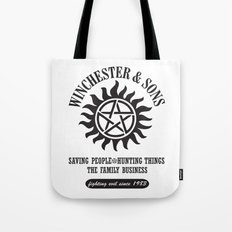 SUPERNATURAL WINCHESTER AND SONS Tote Bag