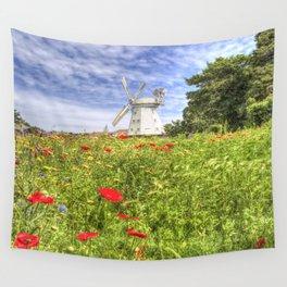 Summer Windmill Wall Tapestry