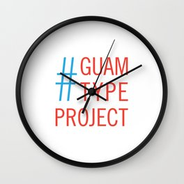 Guam Type Project Logo Wall Clock