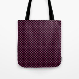 Black and Festival Fuchsia Polka Dots Tote Bag