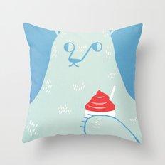 Polar Beverage Throw Pillow