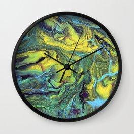 Melting Mountains Abstract Wall Clock