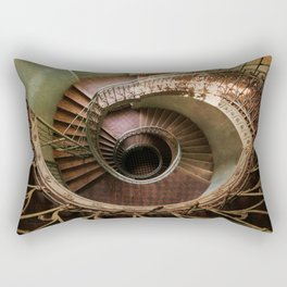 Spiral staircaise with a window Rectangular Pillow
