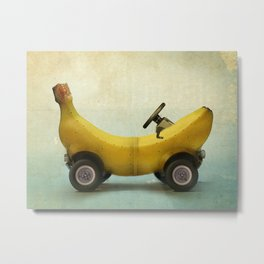 Banana Buggy Metal Print