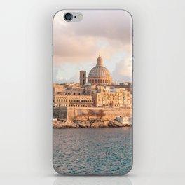 Valletta at Golden Hour iPhone Skin