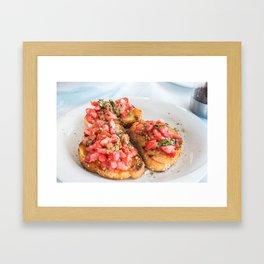 bruschetta Framed Art Print