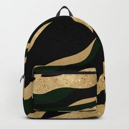 Golden Marble Glamour Wave Backpack