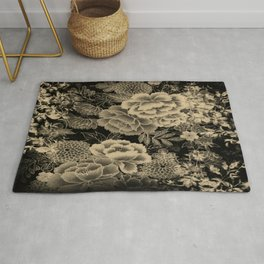 Vintage Floral Abstract Rug