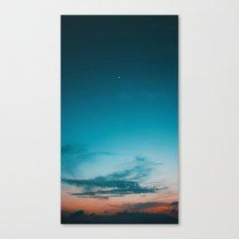 Night Sky Sunset (Color) Canvas Print