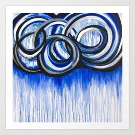 Storm Rain Cloud Art Print