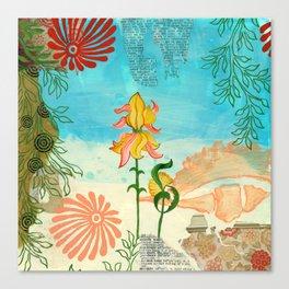 Sea Shell Flowers I Canvas Print