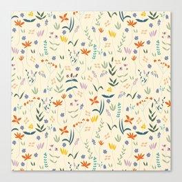 Retro Botanical Canvas Print