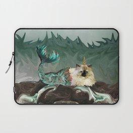 Behold the Mythical Merkitticorn - Mermaid Kitty Cat Unicorn Laptop Sleeve